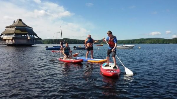 Paddle gonflable activital lac des settons