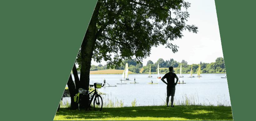 activital au bord de l'étang de baye